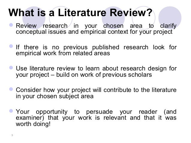 why is literature review necessary in educational research The literature review is integral for further research a review of literature also contributes to the high quality of its education system and.
