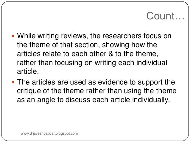 writing review of related literature Some research writers will tell you that writing a literature review is one of the simplest parts in composing a dissertation paper, but actually it is not true.