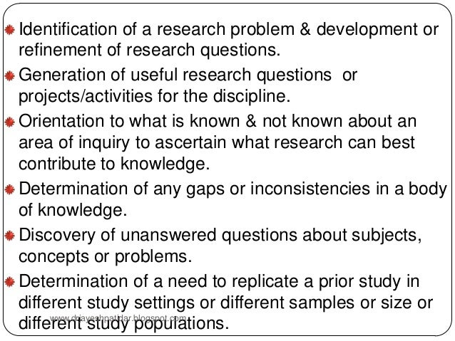 Role of literature review in research
