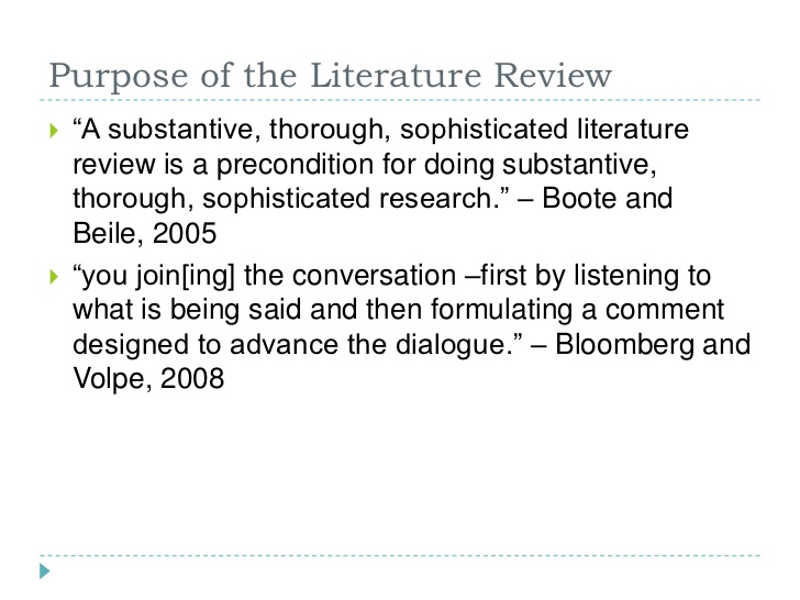 critical literature review