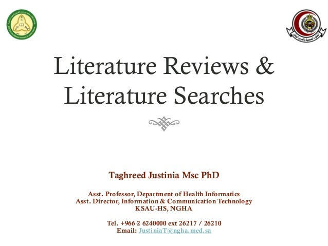 Literature reviews & literature searches