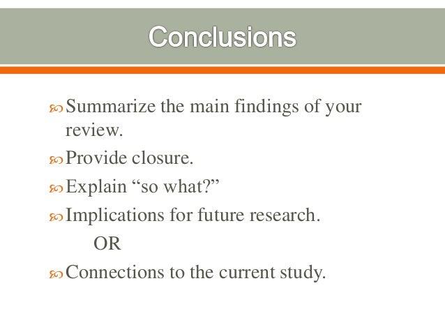 Academic literature review