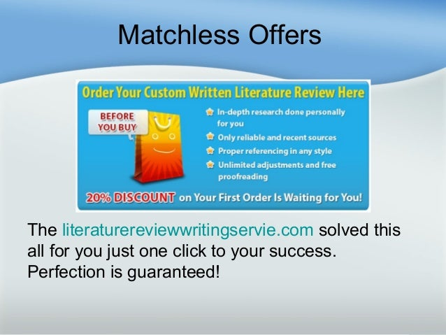 Custom literature review writers