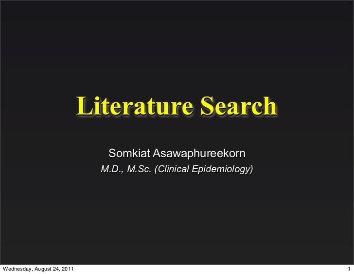 Literature Search - Overview