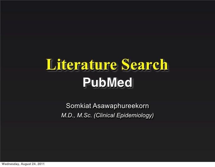 Literature Search - PubMed