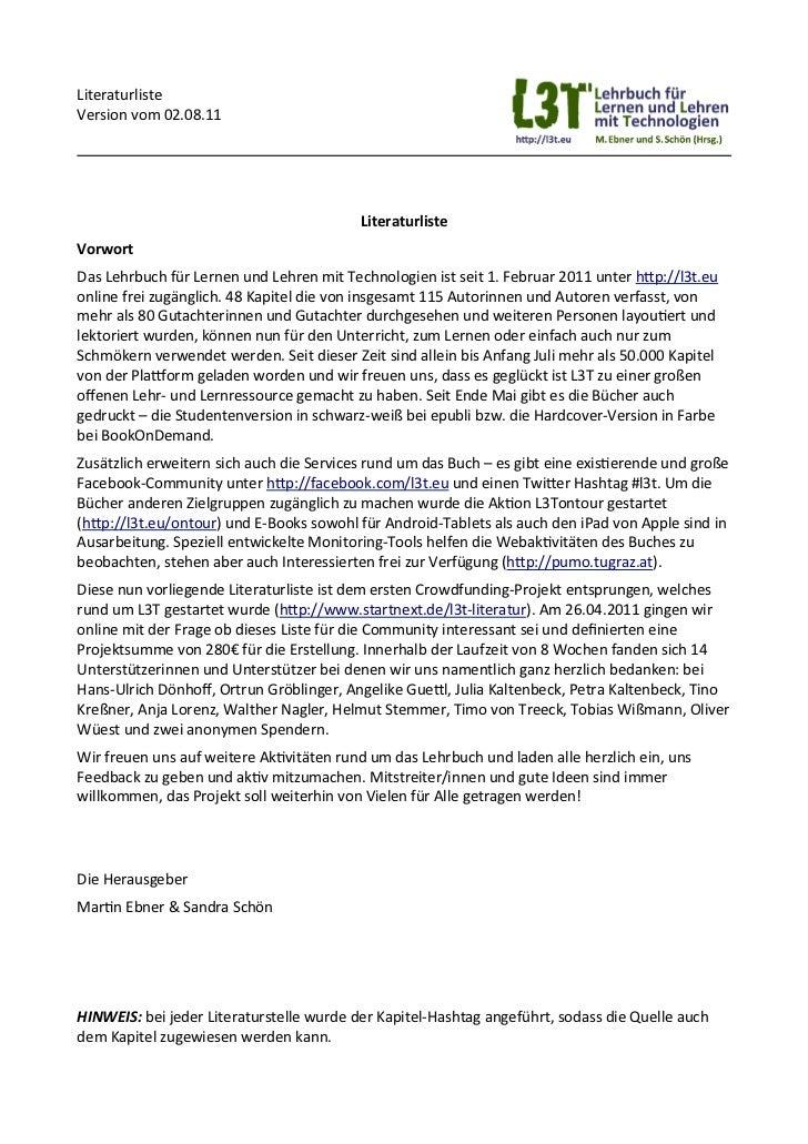 Literaturverzeichnis aller L3T-Kapitel
