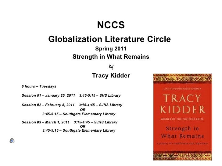 <ul><li>NCCS </li></ul><ul><li>Globalization Literature Circle   </li></ul><ul><li>Spring 2011 </li></ul><ul><li>Strength ...