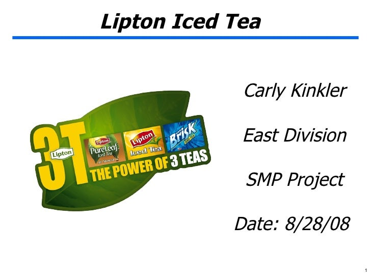 lipton case study The promo / pr ad titled bringing the tea break into the 21st century was done by phd shanghai advertising agency for product: lipton tea (brand: lipton) in china it was released in apr 2010.