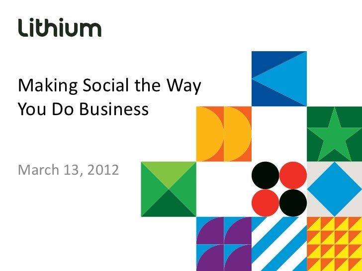 Lithium Making Social the Way You Do Business
