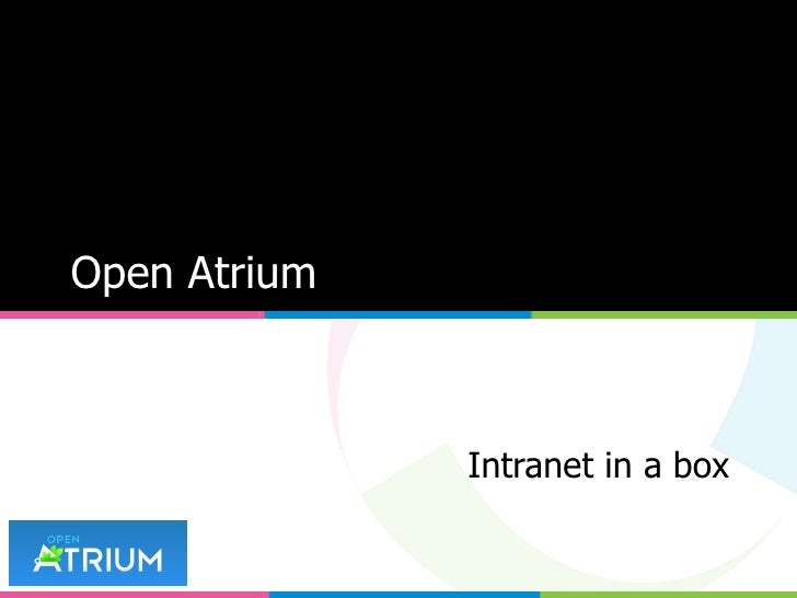 Open Atrium Intranet in a box