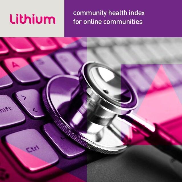 community health indexfor online communities