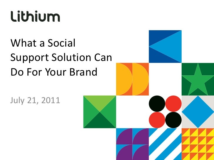 Social Support with Online Communities
