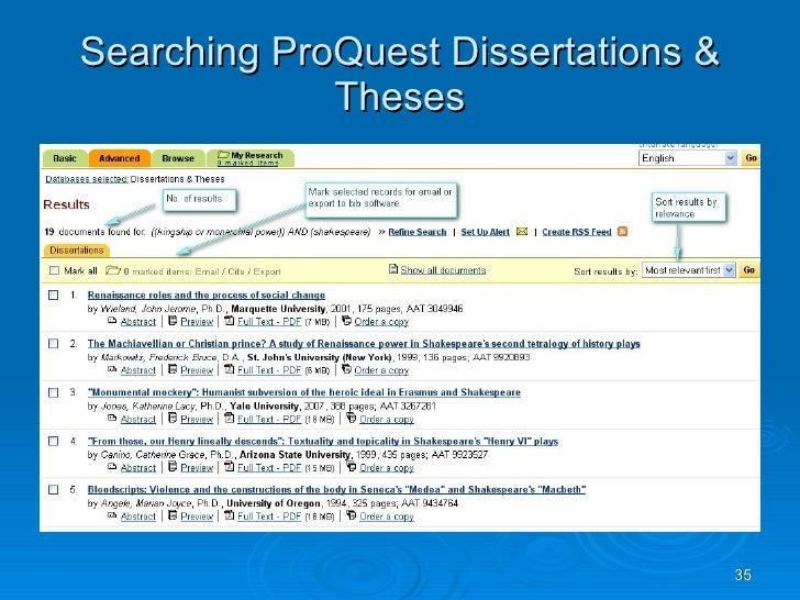 Order Dissertation Proquest