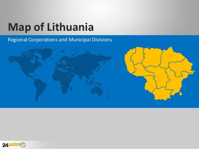 Map of Lithuania Regional Corporations and Municipal Divisions