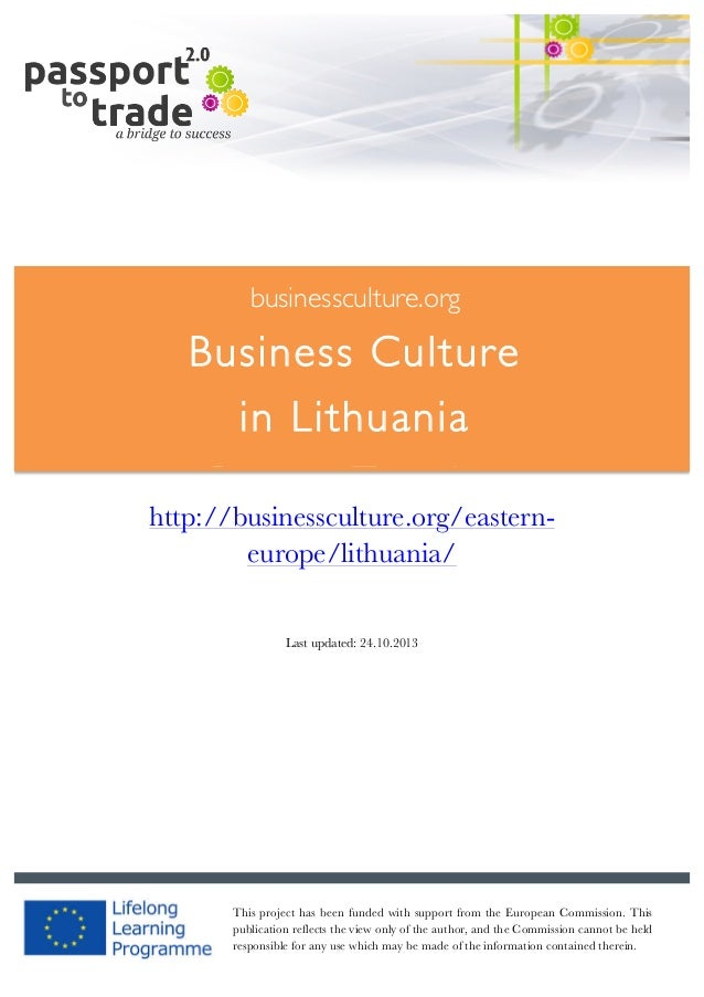 Lithuanian business culture guide - Learn about Lithuania