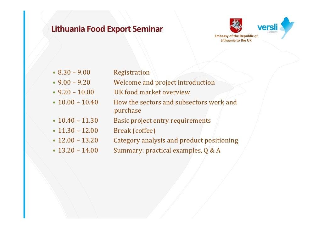 """Graham Whiley ir Margreet Westerhuis, """"Eksporto galimybės maisto pramonės įmonėms Jungtinėje Karalystėje"""""""