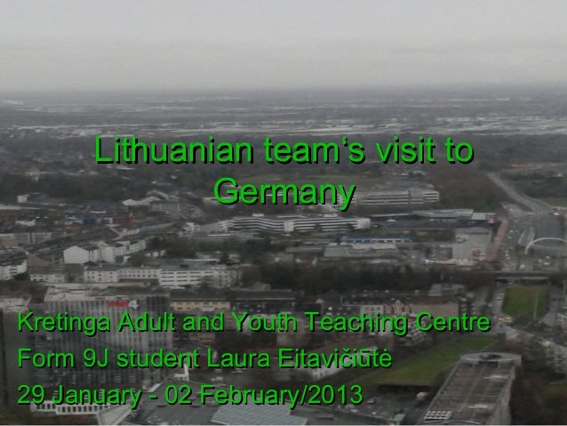 Lithuanian team go to germany