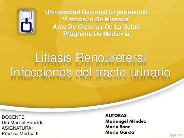 """Universidad Nacional Experimental """"Francisco De Miranda"""" Área De Ciencias De La Salud Programa De Medicina DOCENTE: Dra Ma..."""