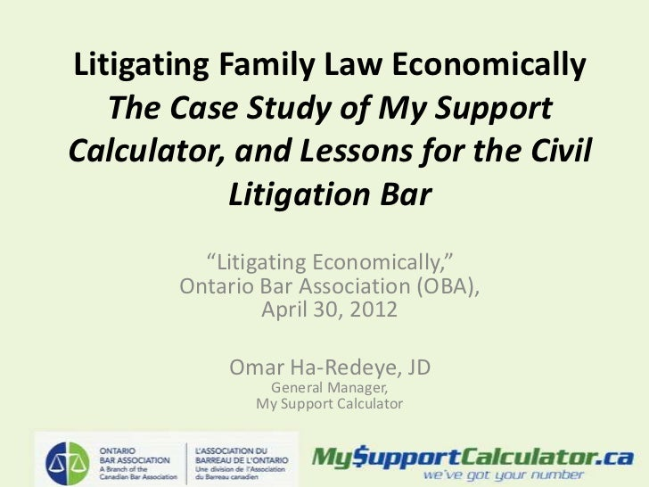 Litigating Family Law Economically   The Case Study of My SupportCalculator, and Lessons for the Civil            Litigati...