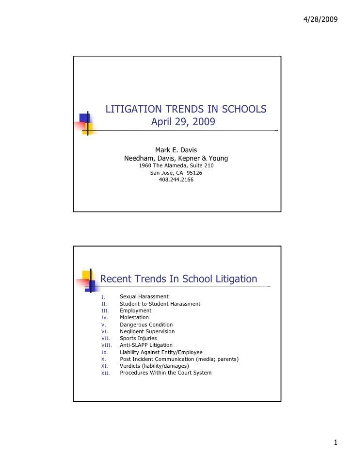 Litigation trends in schools