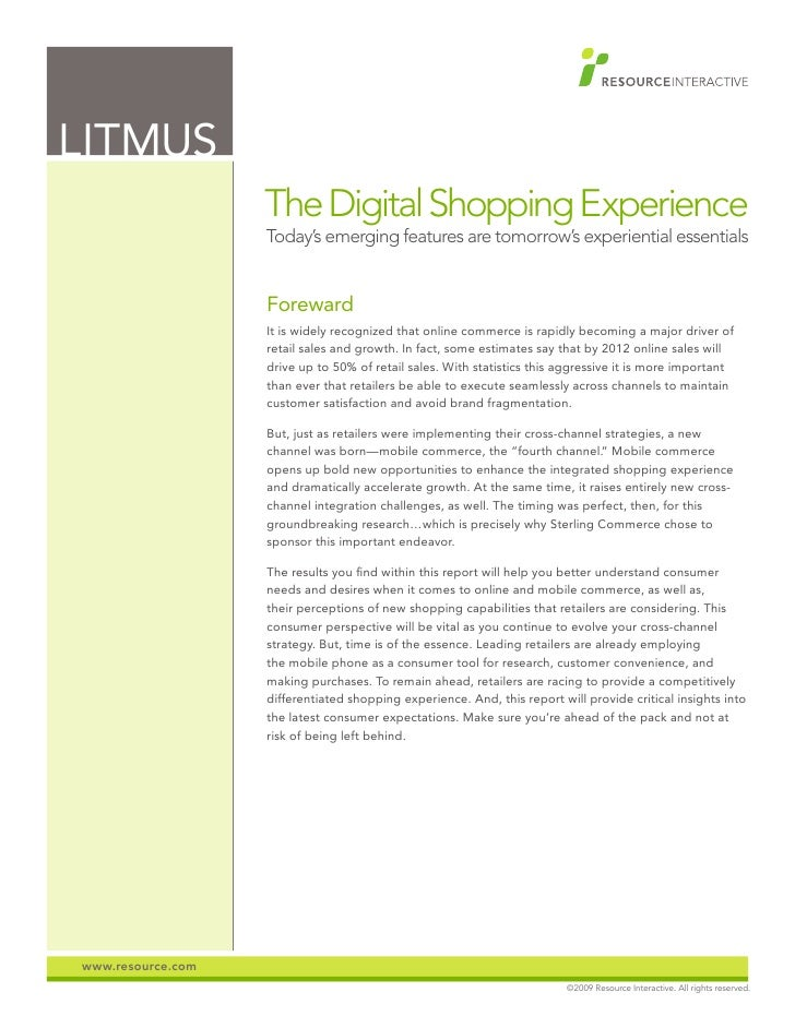 Litmus: The Digital Shopping Experience
