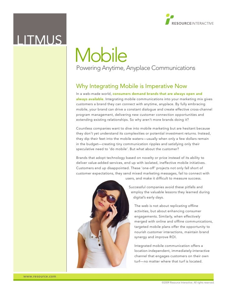 LITMUS                    Mobile                    Powering Anytime, Anyplace Communications                     Why Inte...