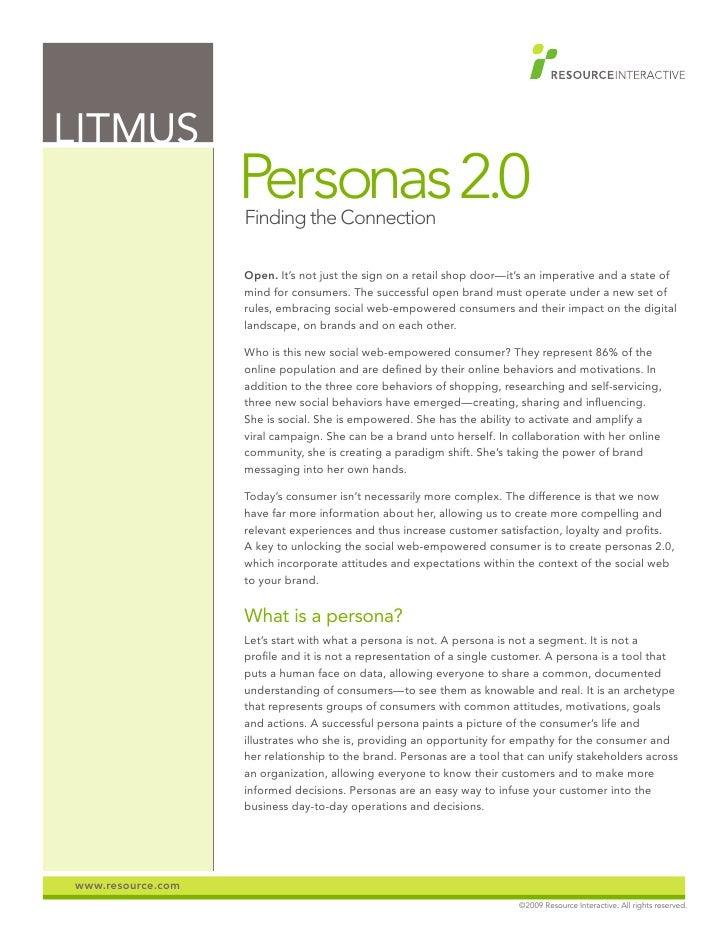 Litmus: Personas 2.0