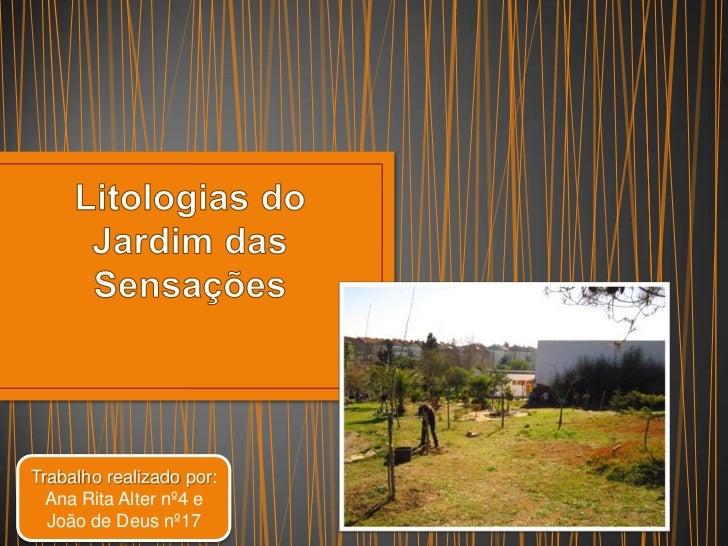 Trabalho realizado por:  Ana Rita Alter nº4 e  João de Deus nº17