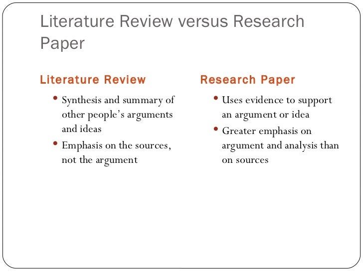 Where is the literature review in a research article