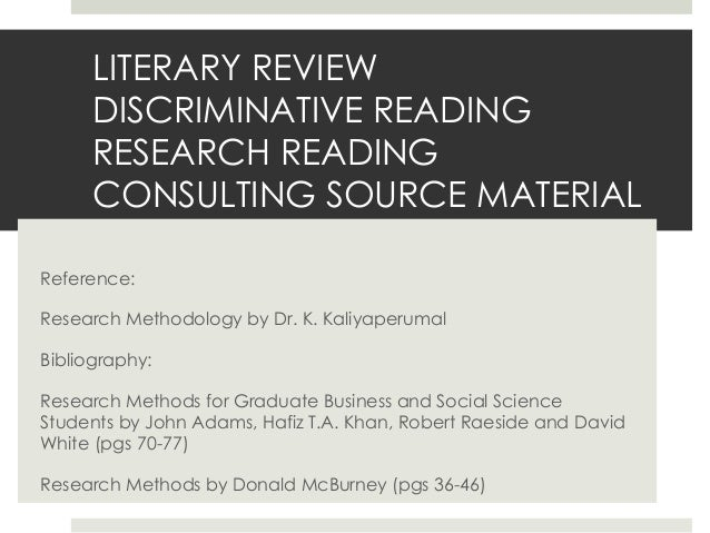 LITERATURE REVIEW- HOW TO MAKE YOURS COUNT?