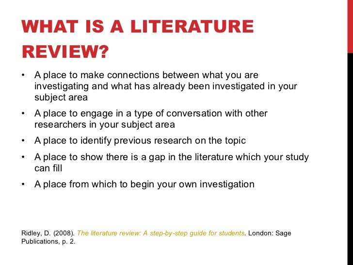 Literature review companies