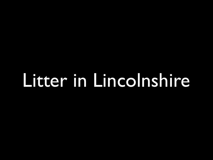 Litter in Lincolnshire