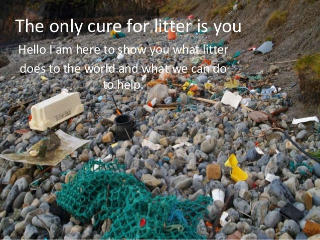 The only cure for litter is you Hello I am here to show you what litter does to the world and what we can do to help.
