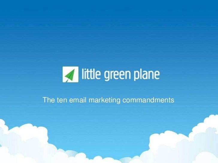 The ten email marketing commandments