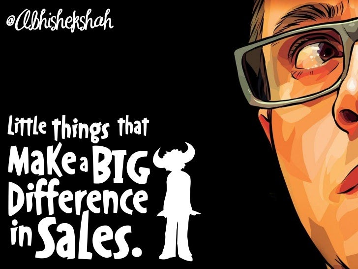 Little Things That Make a BIG Difference in Sales