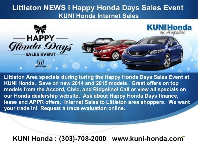 Happy Honda Days Sales Event 2014 The Happy Honda Days Sales