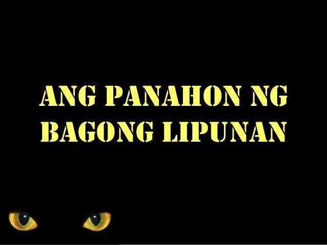 ANG PANAHON NG BAGONG LIPUNAN