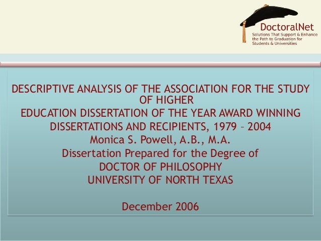 Doctoral Dissertation Literature Review
