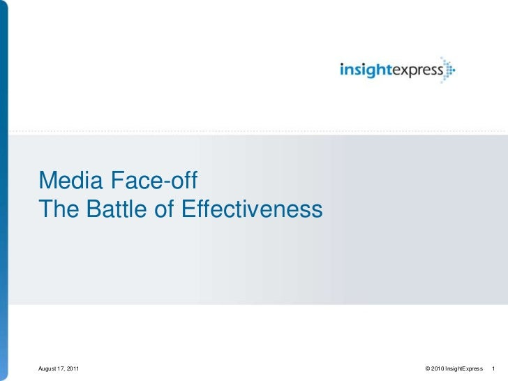 Media Face-off The Battle of Effectiveness<br />