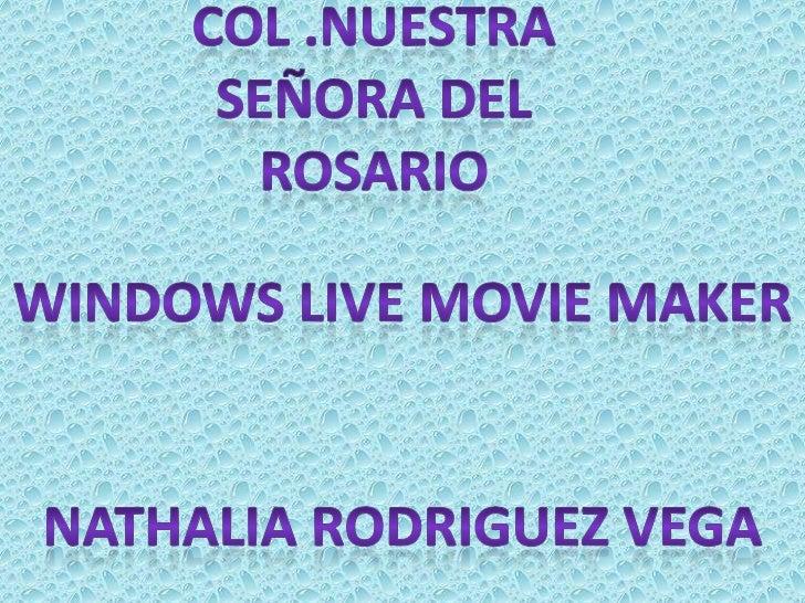 QUE ES?Windows Movie Maker es un software deedición de video creado por Microsoft. Fueincluido por primera vez en el año 2...