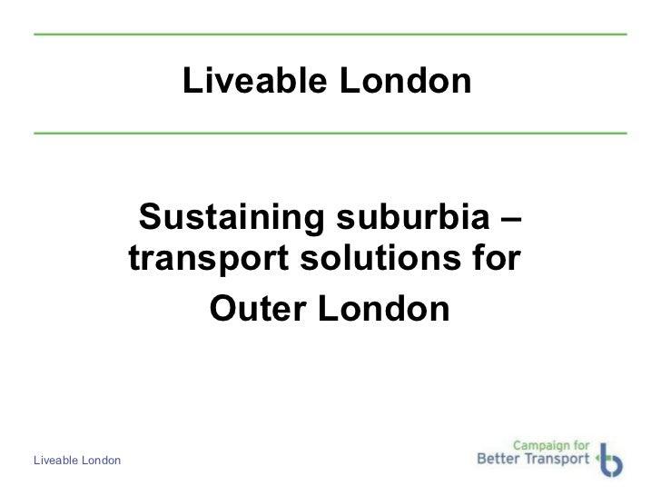 Movement for Liveable London Street Talks - Richard Bourn and Richard Hebditch 1st November 2011