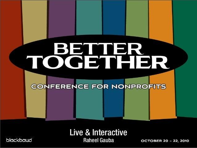Live & Interactive Raheel Gauba