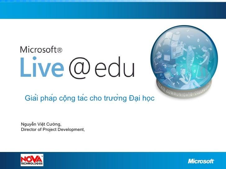 Giới thiệu chương trình Live@Edu tại Việt Nam