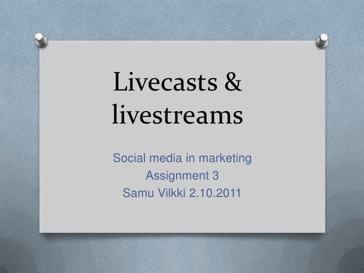 Livecasts & livestreams