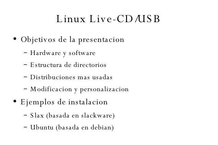 Linux Live CD/USB
