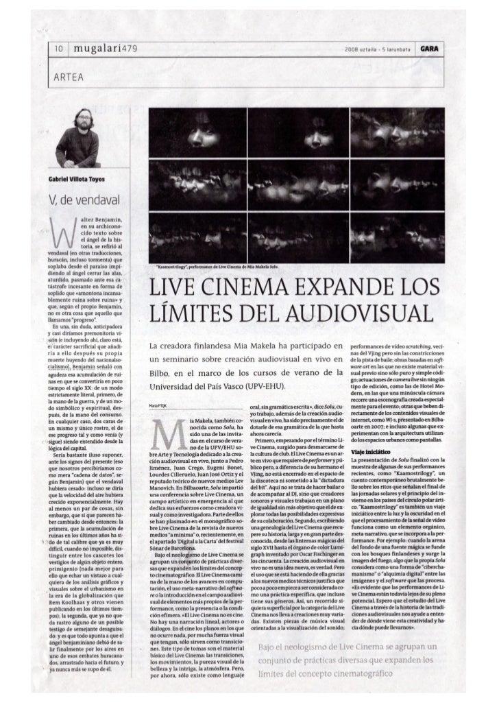 Mia Makela Live Cinema