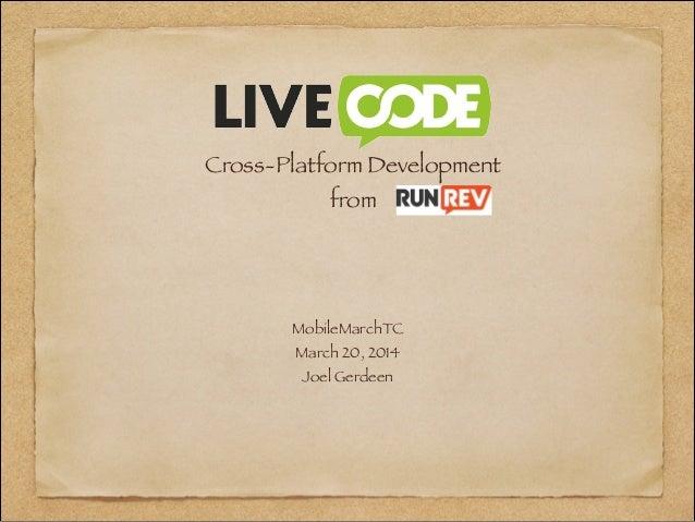 LiveCode Cross-Platform Development-Joel Gerdeen