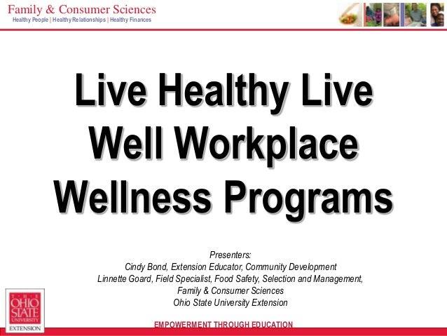 Live health live well workplace wellness programs priester