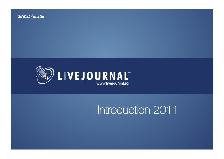 LiveJournal.sg intro