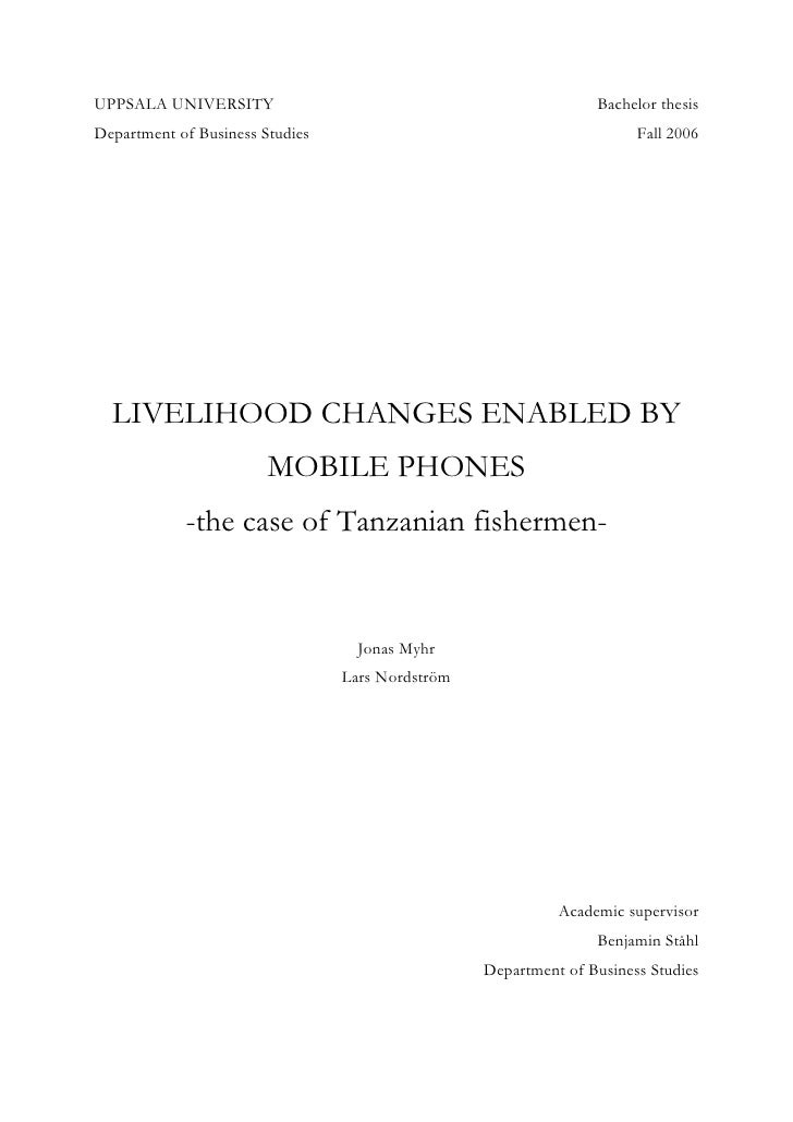 Livelihood changes enabled by mobile phones   the case of tanzanian fishermen